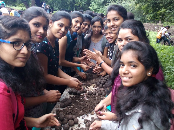 Environment-seed ball spreading programme at Empress Garden